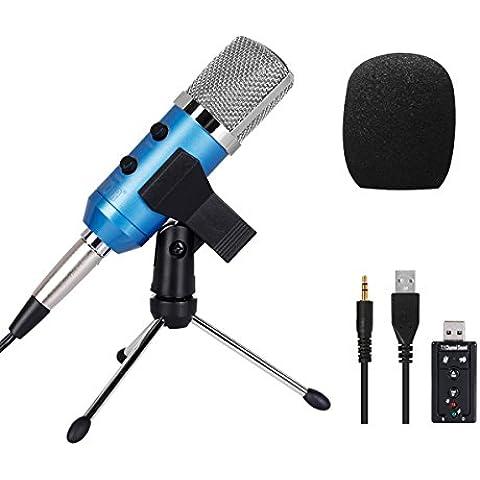 Tonor 3.5mm Microfono a Condensatore per Tramissione Vocale Eco Cantare Strumento musicale registrazione - 4 Condensatore Cardioide