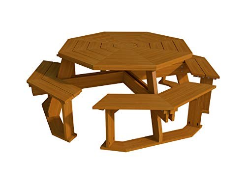 The Best DIY Plans Store Construisez Votre Propre Octagon Plans de Table de Pique-Nique (DIY) Fun à Monter.