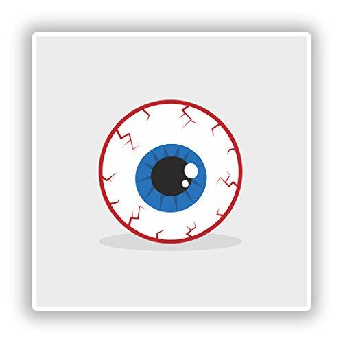 2x CREEPY Eye Vinyl Aufkleber Reise Gepäck Halloween # 10172 - 30cm/300mm Wide (Halloween Eye Zubehör)