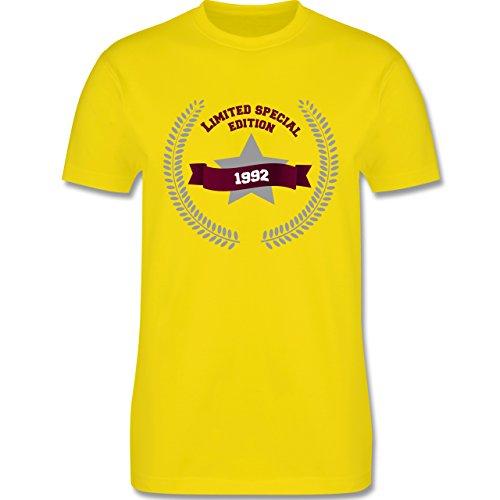 Geburtstag - 1992 Limited Special Edition - Herren Premium T-Shirt Lemon Gelb