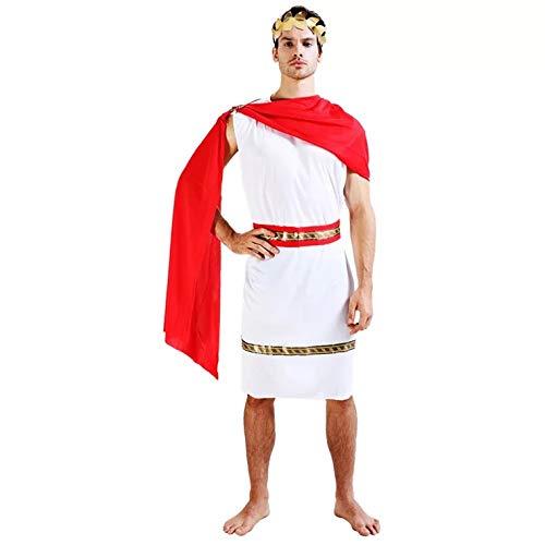 Julius Kostüm Adult Cäsar - thematys Julius Caesar Römer Toga Kostüm-Set für Herren - perfekt für Cosplay, Karneval & Halloween - Einheitsgröße 160-180cm