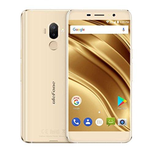 Mamum 4g Android 7.0 Smartphone 5,3 Zoll, s8 ulefone pro Android 7.0 Smartphone 16gb 2gb + Quad-Core-Dual-SIM-Dual-Kameras 5,3 Zoll Gold (Mobile Entsperrt Handys)