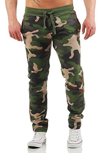 Herren Woodland Camouflage Camo (Happy Clothing Herren Camouflage Jogginghose Army Woodland Sweathose, Größe:XL, Farbe:Camouflage)