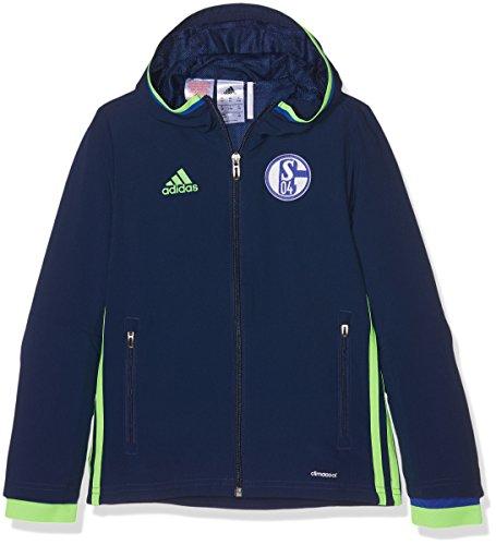 Adidas Schalke 04 PRES Jkt Y Chaqueta, Azul/Verde (Azuosc/Versol), para niños de 9-10 años