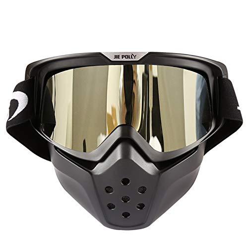 Blisfille Gafas Esquiar Gafas Seguridad Antiempañante,Plata