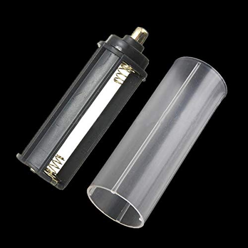ShopSquare64 1 Stück AAA Adapter + 1 Stück 18650 weißes Schlauch für LED-Taschenlampen-Fackel (Gewicht Stack Adapter)
