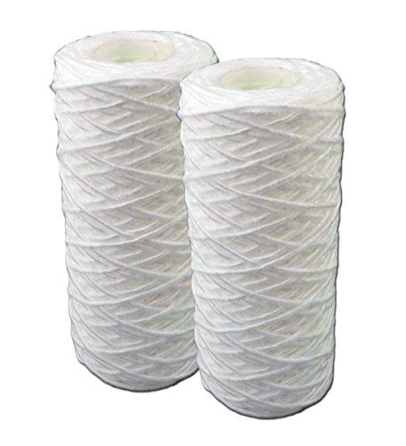 """5 Zoll Faser Filterpatrone (12,7cm) für 5"""" Filtergehäuse. Filterkartusche für Pumpen-, Hauswasserwerke- Teich- Vorfilter, Wasserfilter, Sandfilter. Hochdruckreiniger. (2)"""
