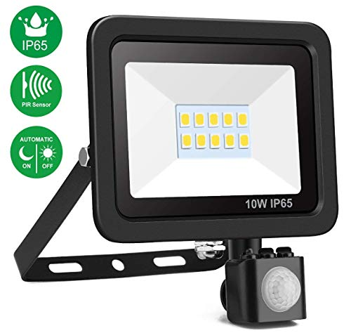 Foco LED con Sensor Movimiento, Minger Proyector LED Exterior 30W LED Impermeable...