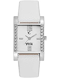 Youth Club New Full White with Studded White Dial Analog Watch For Women-SQDM-WHT