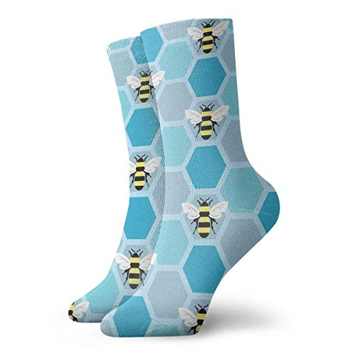 CVDGSAD Casual Socks Lovely Bumblebee Seamless Cartoon Art Fashion Unisex Ankle Socks Athletic Stockings 30cm Long Sock -