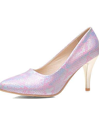WSS 2016 Chaussures Femme-Bureau & Travail / Décontracté-Noir / Bleu / Rose-Talon Aiguille-Talons / Bout Pointu-Talons-Synthétique blue-us9.5-10 / eu41 / uk7.5-8 / cn42