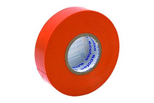 Cofan 207008Isolierbänder, Quarz, Größe: 19mm x 20m, 180Mikron, Farbe: Orange, 10 Stück
