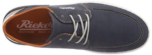 Rieker 18935 Sneakers-Men, Sneaker Alte Uomo Blu (Blau (denim/navy/kastanie/weiss / 14))