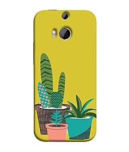 PrintVisa Designer Back Case Cover for HTC One M9 Plus :: HTC One M9+ :: HTC One M9+ Supreme Camera (impressive colours plants in goldenrod colour)