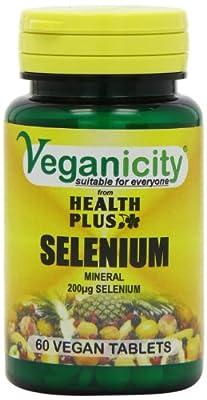 Veganicity Selenium 200µg : Antioxidant mineral : 60 tablets from Health + Plus Ltd