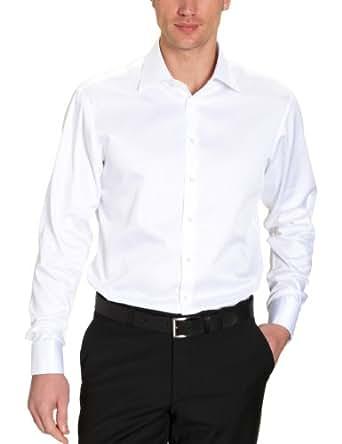 Jacques Britt Herren Hemd mit Manschetten Regular Fit 20.969332 Ben Uma, Gr. 40 (M), Weiß (01 - white)