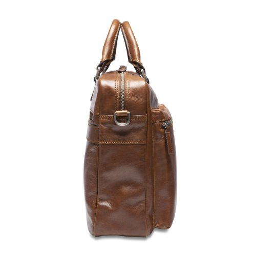 PICARD Men Leather Bag Suitcase / Slingbag Buddy Coffee 5209 cognac