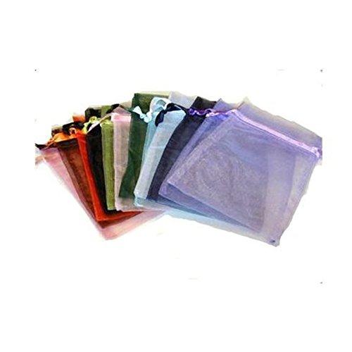 Oxforder 100 Organza Geschenkbeutel-Säckchen weiß mischen Sie Farbe