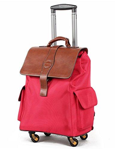 Kann Schulter zurück sein kann kann ziehen kann tragbar ein Satz von Mehrzweck-Trolley-Tasche Reisetasche Universal-Rad Hochleistungs-Gepäck Tasche ( Farbe : 3 , größe : 20 inchs ) 2