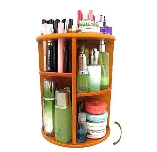 Yisen Handy Aus Holz 360 Grad Drehbarer Make up Organizer Einstellbarer Kosmetikorganizer (Klar Shelf Organizer)