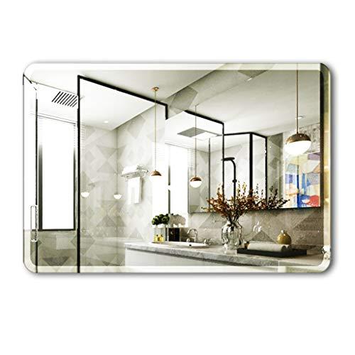 Miroirs Simple sans Cadre De Maquillage De Pâte Dressing De Salle De Bains Tenture (Color : Silver, Size : 35 * 45 * 3cm)