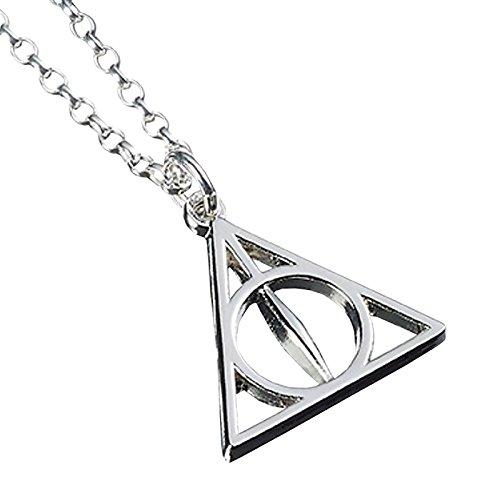 Harry Potter Deathly Hallows Halskette 40-47cm Sterling Silber (Hermine Heiligtümer Des Todes)