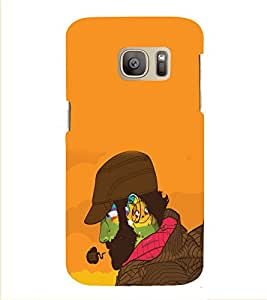 PRINTVISA Swag Beard Man Case Cover for Samsung Galaxy S7