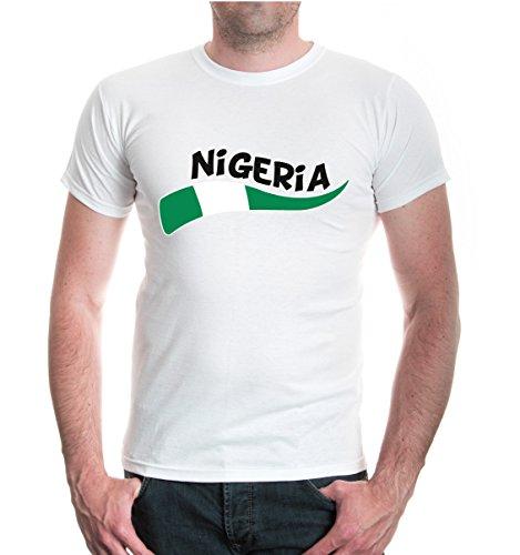 buXsbaum® T-Shirt Nigeria-Wave White-z-direct