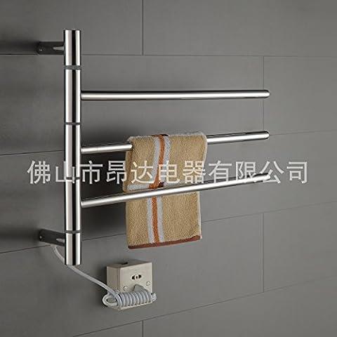 Acciaio inox elettrico porta asciugamani