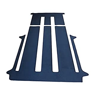 autix Gastraum und Kofferraum Teppich Fußmatte grau meliert Velour für 2 Schiebetüren und Schiebetisch
