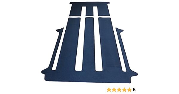 Autix Gastraum Und Kofferraum Teppich Fußmatte Grau Meliert Velour Für 2 Schiebetüren Und Schiebetisch Auto