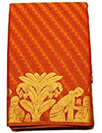Kanchipuram Vallalar Silks Orange saree