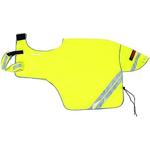Harry Hall Ecuestre caballo Hi Viz reflectante malla transpirable Hook Loop Protección Hoja todos los colores y tamaños, amarillo, Medium