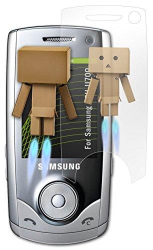 Samsung SGH-U700 Spiegelfolie - atFoliX FX-Mirror Displayschutz Folie mit Spiegeleffekt