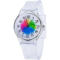 Sannysis Jalea de gel de silicona de cuarzo analógico Deportes Mujeres reloj de pulsera (07)