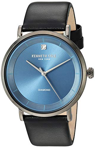 Kenneth Cole New York Men's Analog-Quartz Watch with Leather Strap KC50567009