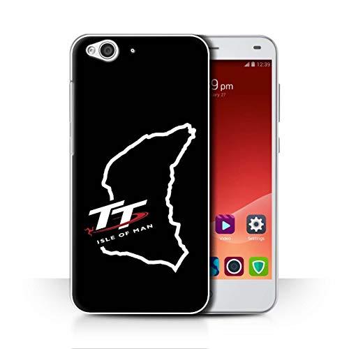 Isle of Man TT Officiel Coque/Etui pour ZTE Blade S6 / TT Circuit Noir Design/TT Logo Collection