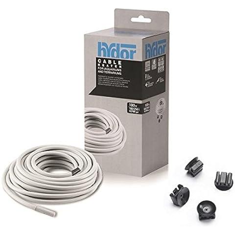 Hydor Cable Heater Hydrokable-Cable en varios Calefactor wattaggi y longitudes para acuarios y terrari Talla:100 watt - 10.0