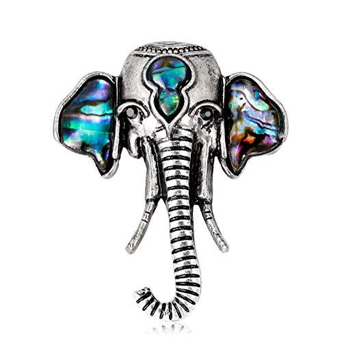 youjiu Deciracion Regalos Adornos Habitacionpersönlichkeit Elefant Brosche Wilde Natürliche Abalone Muschelserie