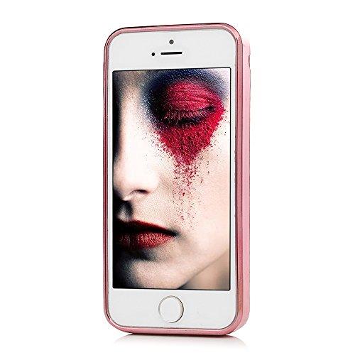 Badalink Coque pour iPhone 5 / iPhone SE, Etui en TPU Silicone Matte Souple Coque de Protection Ultra Mince Scratch Cas de Téléphone Peint Coloré Arrière Couverture Sable Mouvant Motif de Pivoine Fille