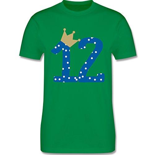 Geburtstag - 12. Geburtstag Krone Junge Zwölfter - Herren Premium T-Shirt Grün