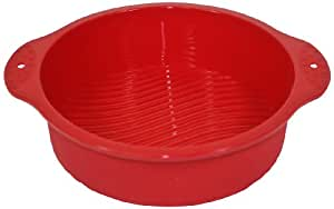 Silicone Worx Silicone Round Cake Pan/Mould, Red