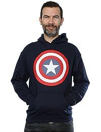 Marvel Homme Captain America Shield Sweat à capuche
