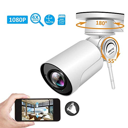 ZLMI 1080P PTZ IP Camera Wireless WiFi Security Surveillance HD 4XZoom Outdoor Waterproof Night Vision Support Two-Way Audio and Motion Detection, for Child/Pet/Elder