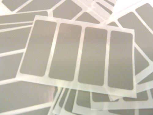 80 étiquettes/taille rectangulaire 50 x 20 mm, Gris, autocollants étiquettes autocollantes