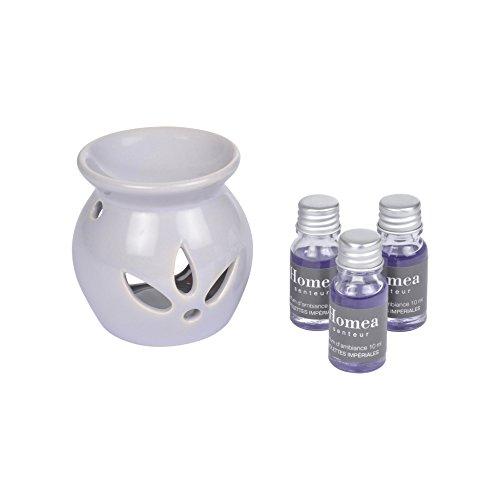 HOMEA 6DIF095VI Brûle-parfum Ceramique Violet 8 x 8 x 14,5 cm