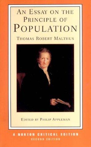 Essay on the Principle of Population (Norton Critical Editions)