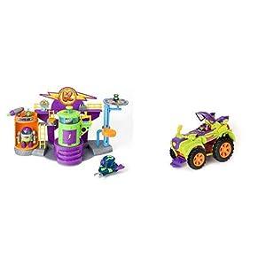 SUPERZINGS - Kazoom Lab Battle con únicas y exclusivas Figuras de Enigma y Profesor K+ PlaySet Villano Truck Especial Vehículos y Figuras coleccionables, Color Verde