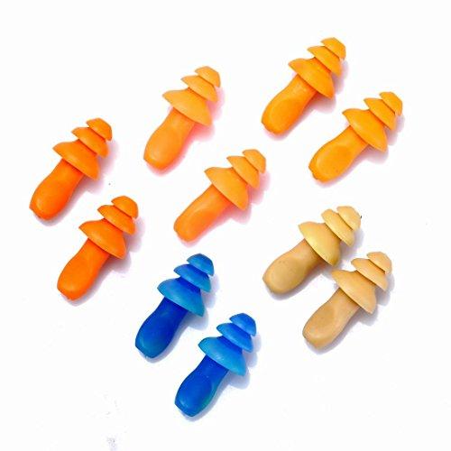 BinaryABC Silikon ohrstöpsel schwimmen Protector-10ST (zufällige Farbe)
