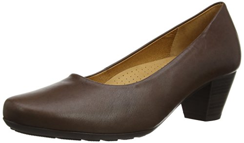 Gabor  Brambling,  Damen Pumps , Braun - braunes Leder - Größe : 38 1/2 EU (5.5 UK) (Heel Stack)